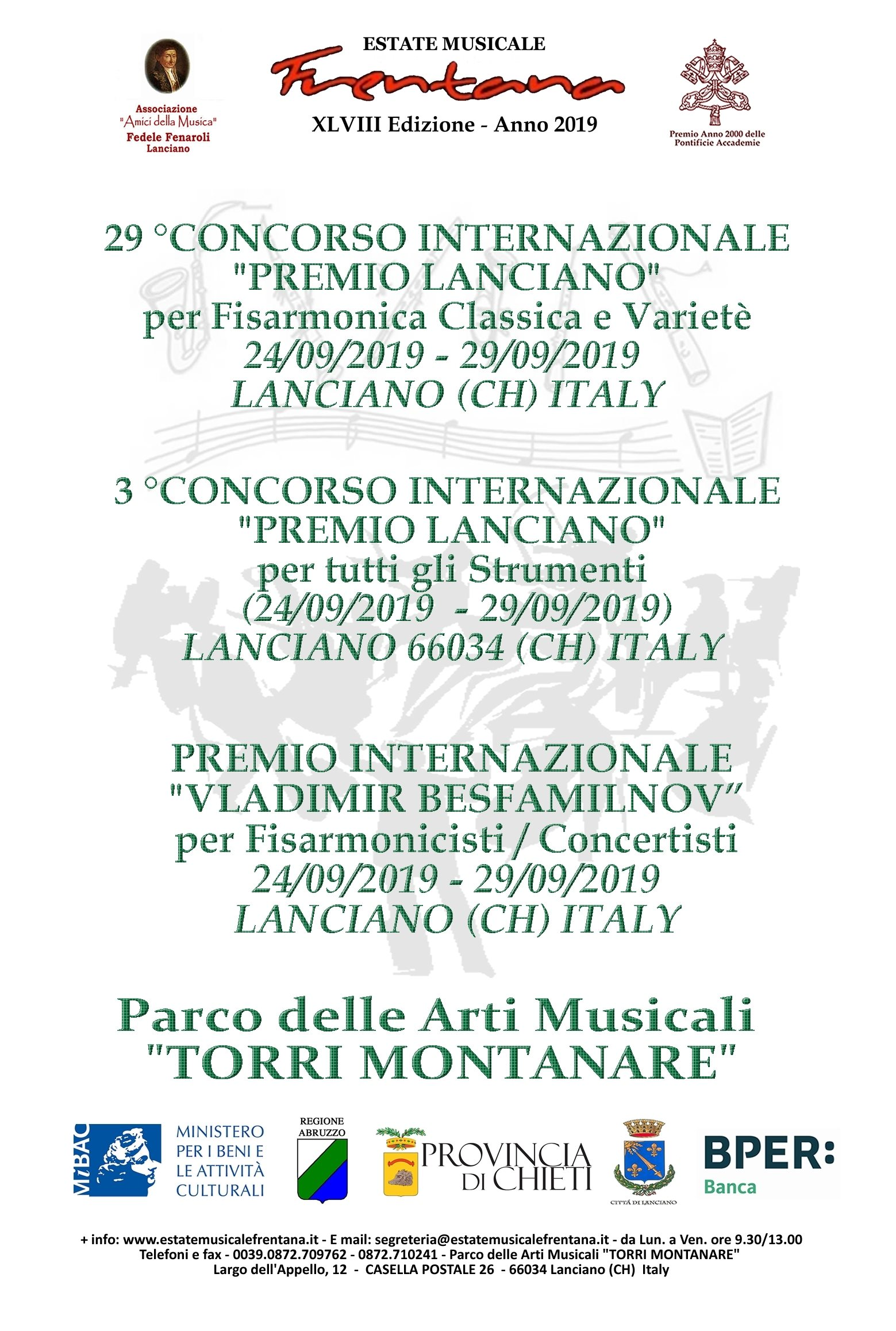 Ca Foscari Calendario Accademico.Estate Musicale Frentana