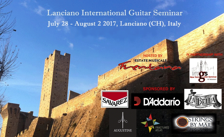 LANCIANO INTERNATIONAL GUITAR SEMINAR 2017 Edition.