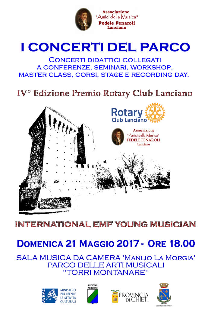 INTERNATIONAL EMF YOUNG MUSICIAN - Premio Rotary Club Lanciano - EMF 2017