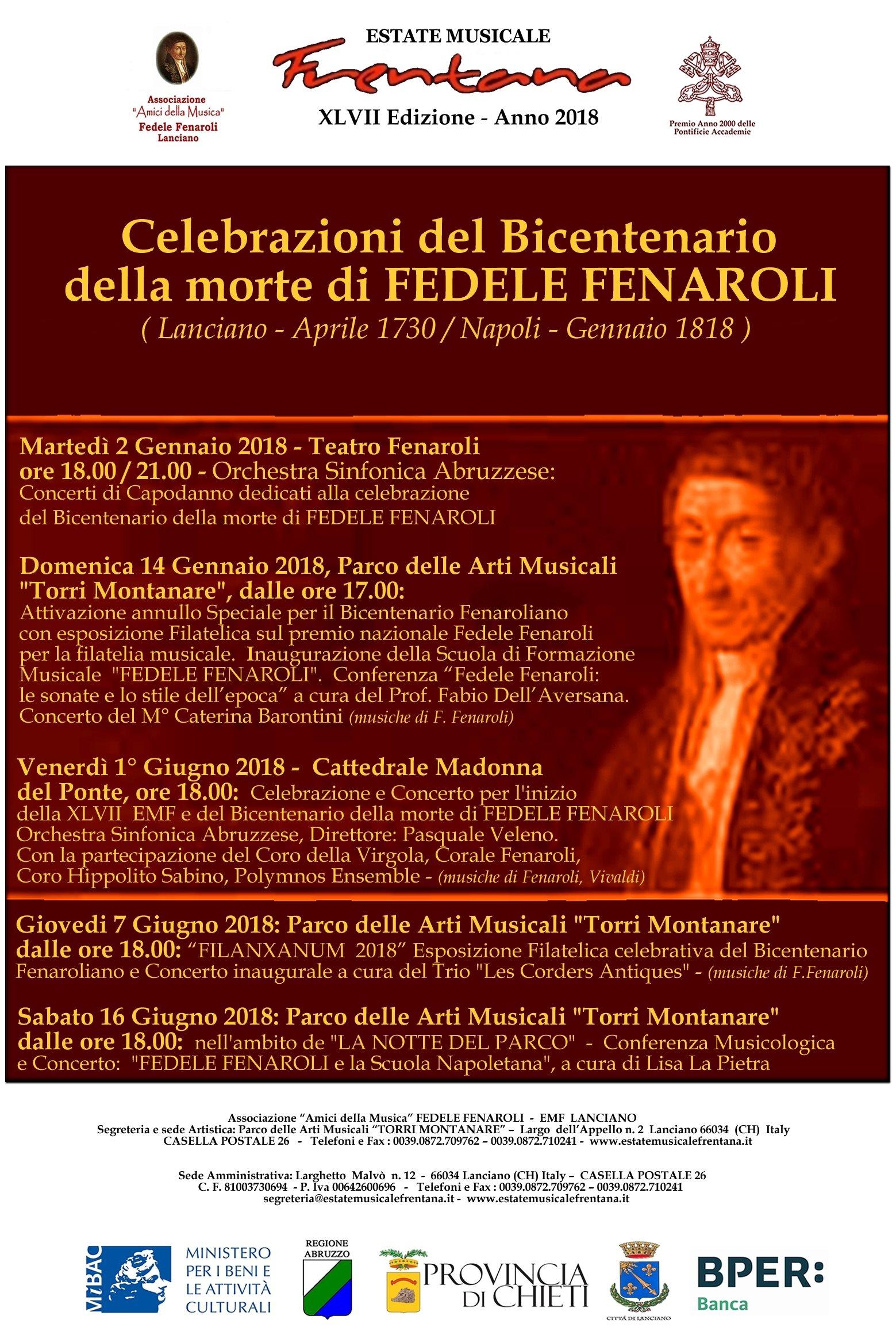 Celebrazioni del Bicentenario della morte di FEDELE FENAROLI 8acb215961a