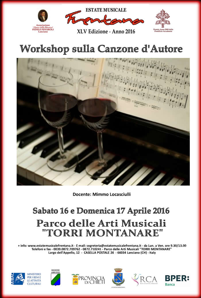 Workshop sulla Canzone d