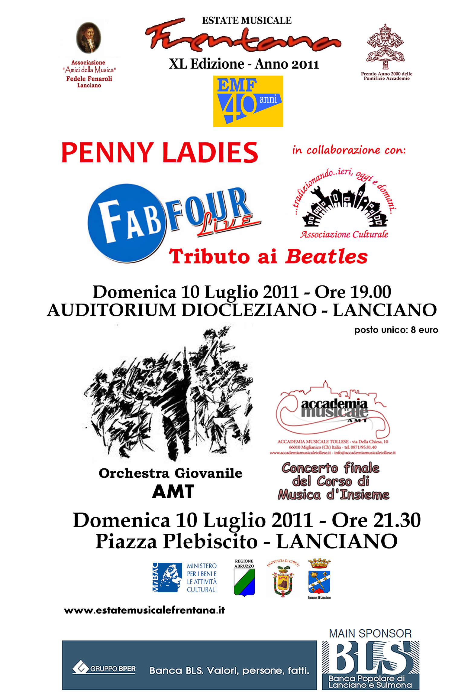 PENNY LADIES: FAB FOUR LIVE - ORCHESTRA GIOVANILE AMT