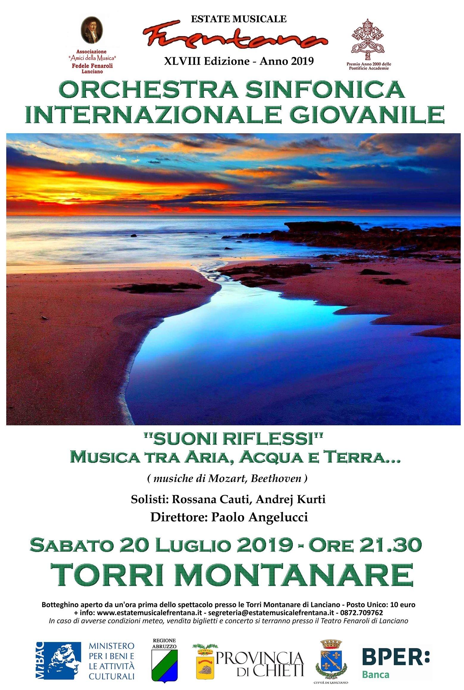 """""""Suoni Riflessi"""" - Musica tra Aria, Acqua e Terra … Orchestra Sinfonica Internazionale Giovanile"""