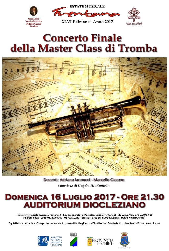 Concerto finale della Master Class di Tromba