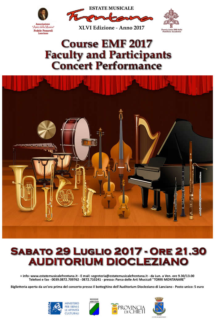 Course EMF 2017 - Faculty and Participants Concert Performances
