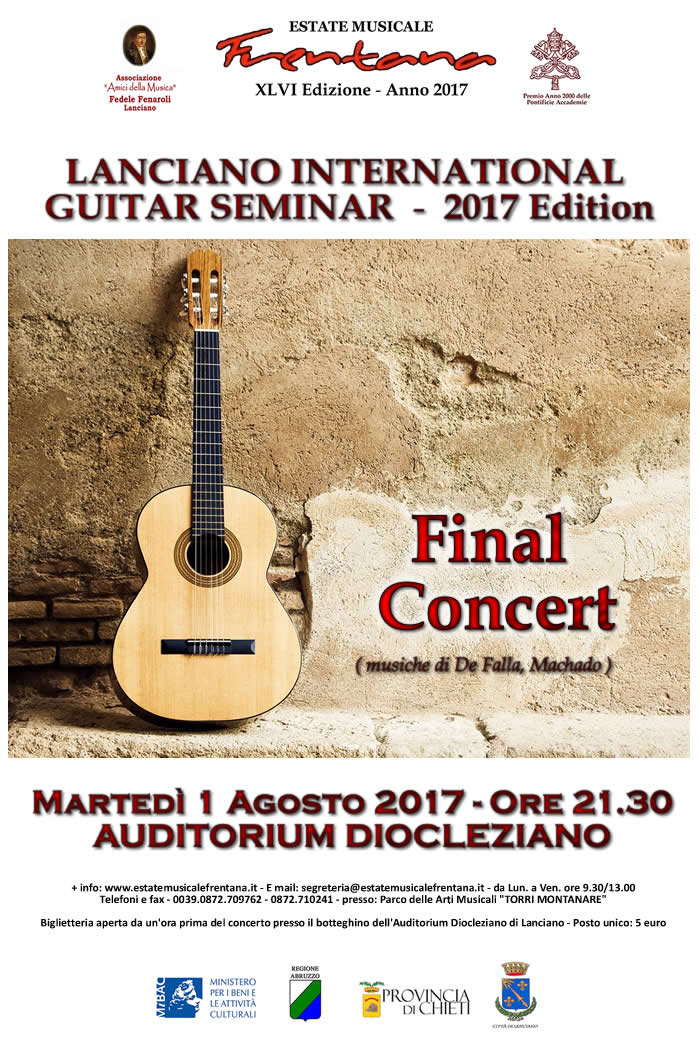 Final Concert Lanciano International Guitar Seminar