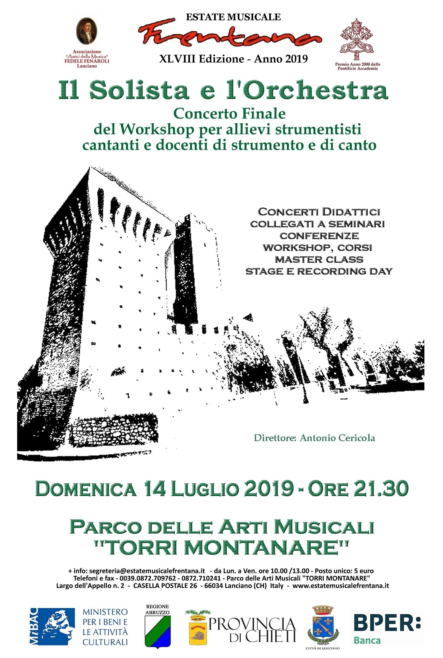 Concerto Finale del Workshop per Strumentisti Cantanti e Docenti di strumento e di canto