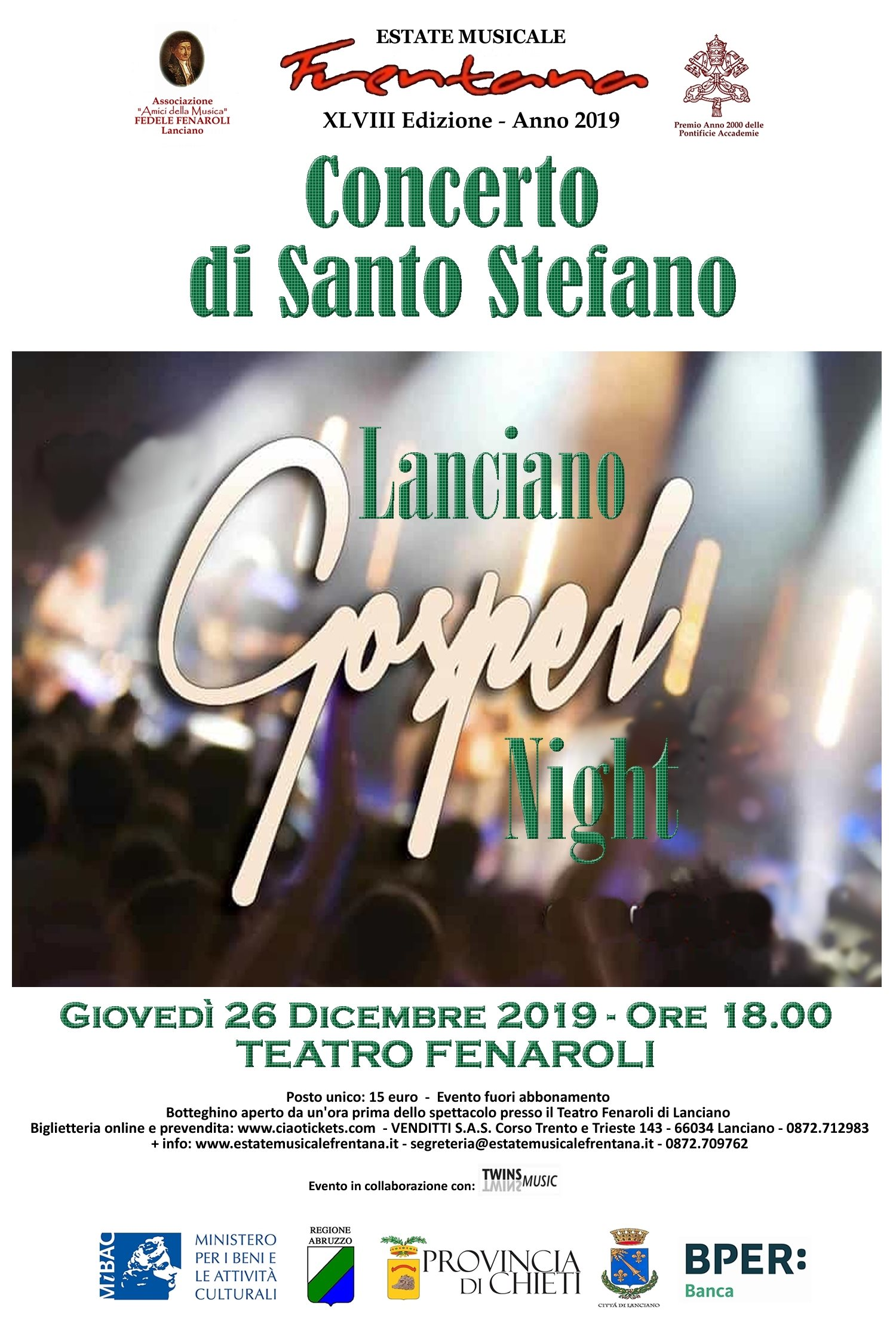 """LANCIANO GOSPEL NIGHT"""