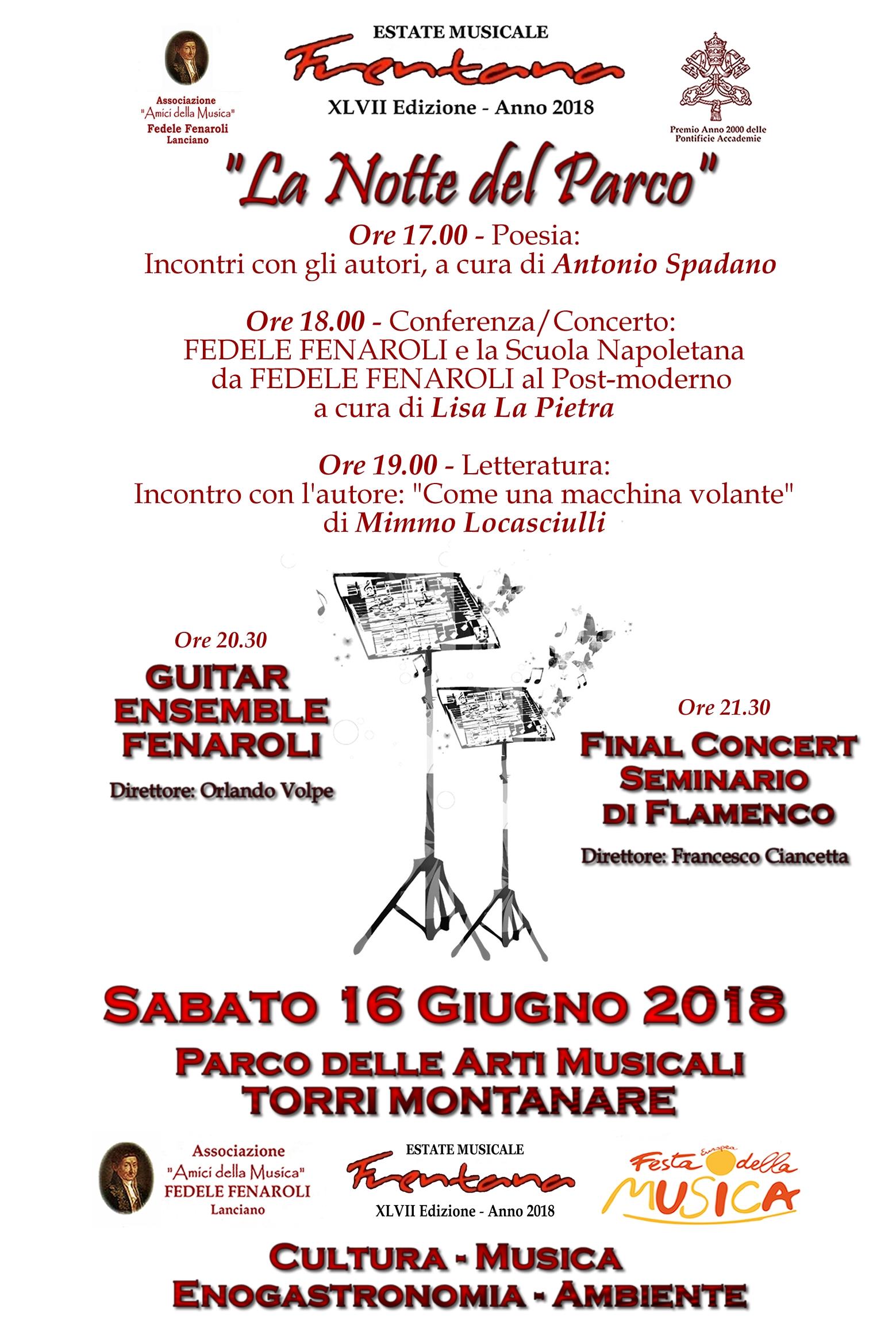 "Eventi de ""La Notte del Parco"" EMF 2018"