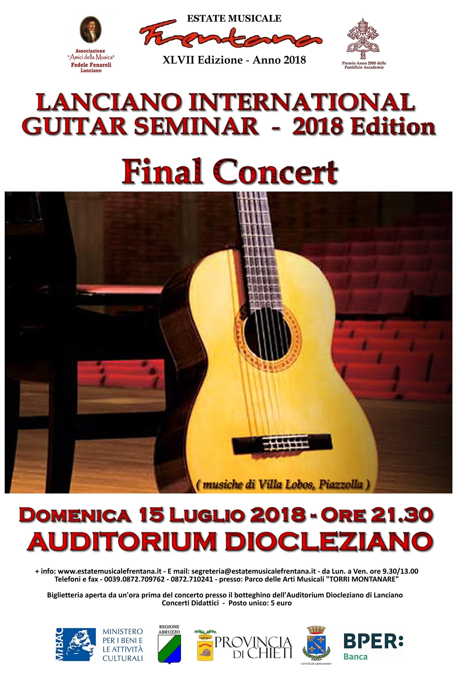 Final Concert - LANCIANO INTERNATIONAL GUITAR SEMINAR