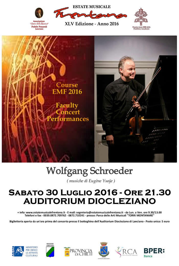 Course EMF 2016 - Faculty  Concert Performances